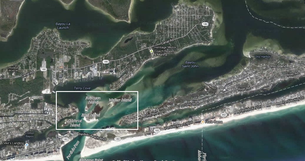 map of orange beach islands